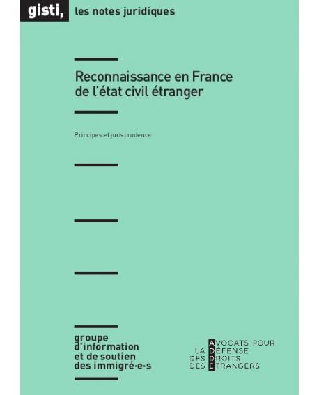 Reconnaissance en France de l'état civil étranger