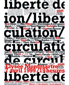 Affiche du concert du 7 avril 1999