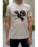 T-shirt unisexe «Liberté de circulation» en coton BIO écru