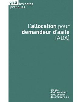 L'allocation pour demandeur d'asile (ADA) (ebook PDF)
