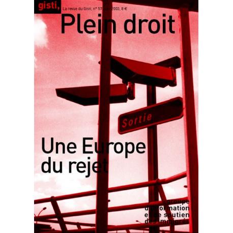 Une Europe du rejet