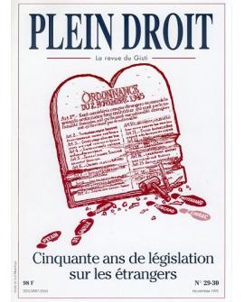 Cinquante ans de législation sur les étrangers