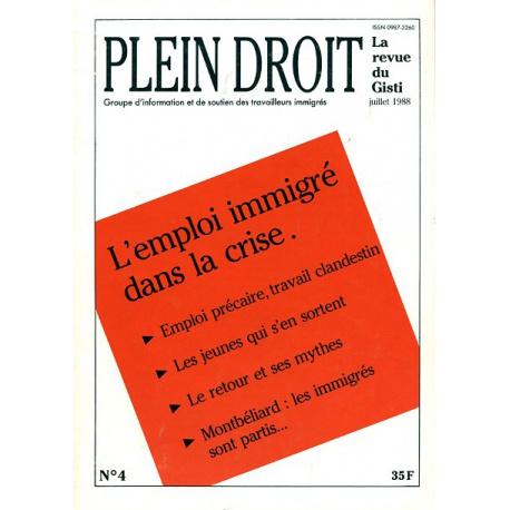 L'emploi immigré dans la crise